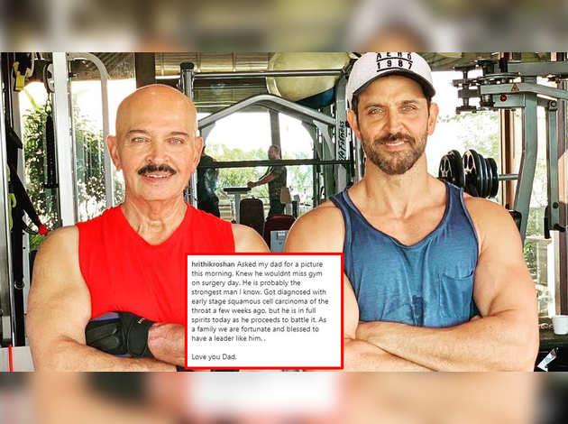 ऐक्टर रितिक रोशन के पिता राकेश रोशन को हुआ कैंसर