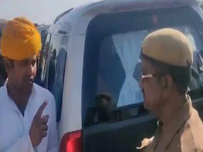 VIDEO Mantri Ko Aaya Policekarmi Par Gussa, Kaha '. . . Naukri Kharaab Kar Doonga