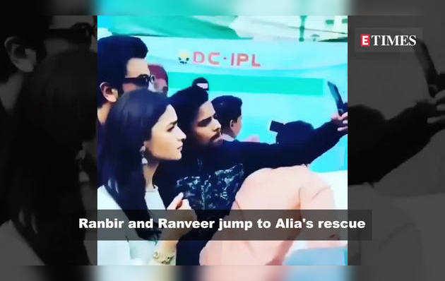 भीड़ में फंसीं आलिया, रणबीर और रणवीर ने उन्हें ऐसे बचाया