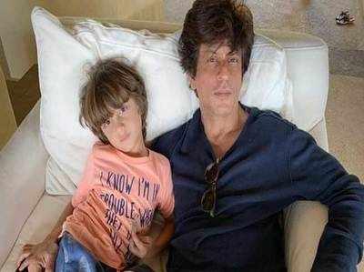 शाहरुख ने बेटे अबराम के साथ फोटो शेयर की