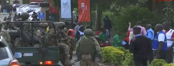 kenyan security forces battle for control after gunmen attack hotel in nairobi