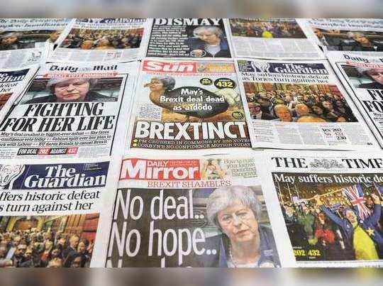 ब्रिटिश संसदेत ब्रेग्झिट नामंजूर