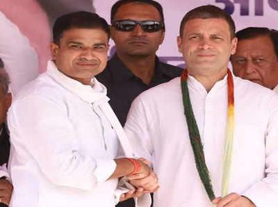 गिर्राज सिंह मलिंगा राहुल गांधी के साथ (फाइल फोटो)