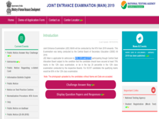 jee main answer key challenge or raise objection till today