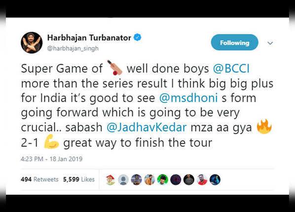 धोनी की फॉर्म भारत के लिए अच्छा संकेत: हरभजन