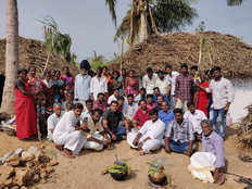 suriya karthi fans build houses for cyclone gaja victims