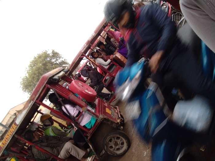 Traffic in Nangloi