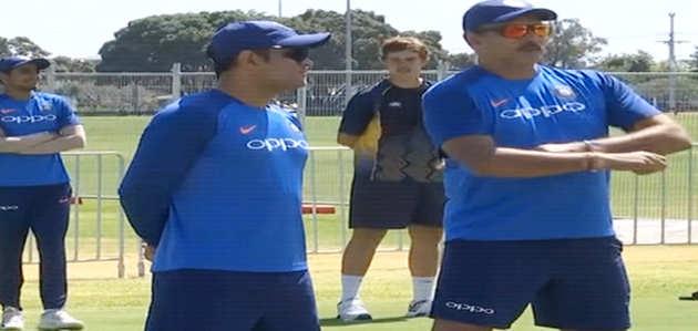 न्यू जीलैंड के साथ दूसरे एक दिवसीय मैच से पहले टीम इंडिया ने किया अभ्यास