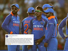 new zealand police post on indian cricket team after second one day match