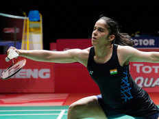 indonesia masters saina nehwal wins women singles final after carolina marin injured
