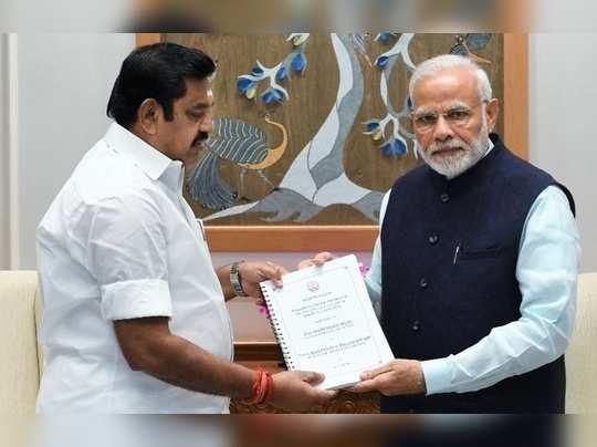 Cm Palaniswami with Narendra modi
