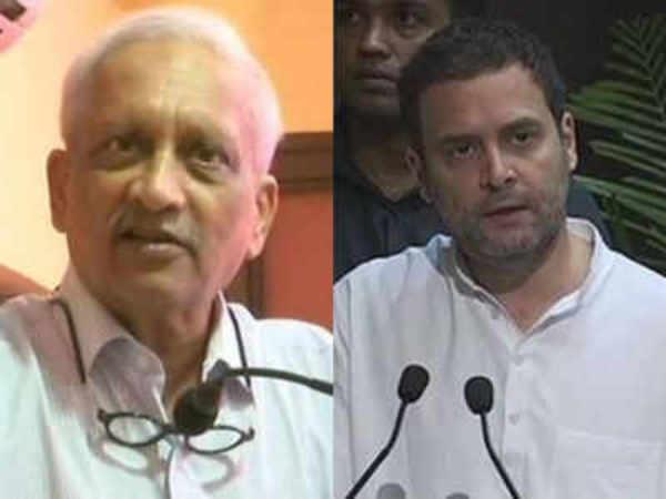 war of words breaks out between rahul gandhi and manohar parrikar over rafale deal
