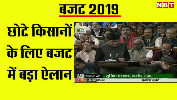 budget 2019 six thousand rupees to be deposited in small farmers bank account
