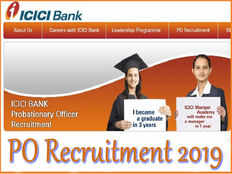 icici bank po recruitment 2019 admission into pgdb course for icici manipal academy