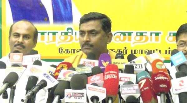 mamata banerjee wants to save corrupt persons blames coimbatore bjp leader muralidhar rao