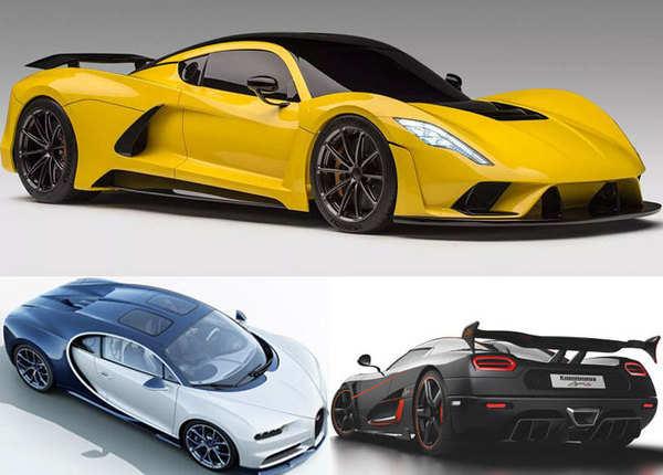 ये हैं दुनिया की सबसे तेज रफ्तार वाली कारें, देखें