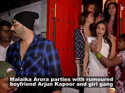 अर्जुन कपूर के साथ पार्टी करने पहुंची मलाइक अरोड़ा
