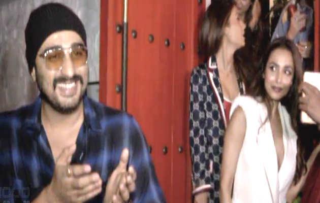 गौरी खान की डिनर पार्टी के बाद अर्जुन कपूर ने मलाइका अरोड़ा को भीड़ से बचाया