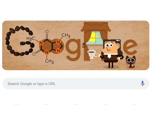 कैफीन खोजने वाले Friedlieb Ferdinand Runge की याद में Google ने बनाया कॉफी कलर का खास Doodle