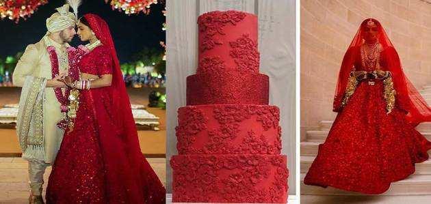 देखें, लंदन की बेकरी ने तैयार किया प्रियंका चोपड़ा के लाल लहंगे से प्रेरित एक केक