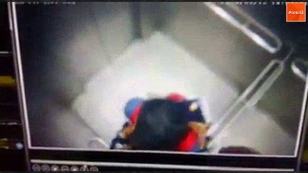 young couples caught kissing on cameras in hyderabad metro lifts videos of the act from cctv extracts are being circulated