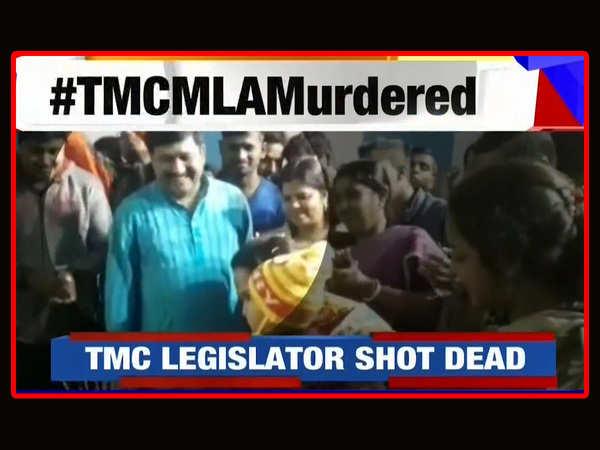 satyajit biswas trinamool mla shot dead in west bengal