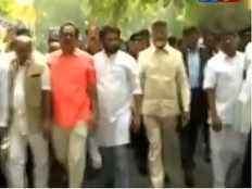 ap cm begins padayatra from ap bhavan to rashtrapati bhavan in delhi