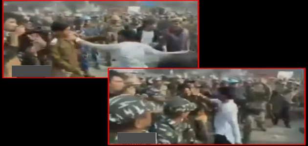 अखिलेश यादव को प्रयागराज आने से रोकने पर SP कार्यकर्ता ने पुलिसकर्मी को मारा थप्पड़