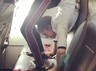 gymnast stuns fans by performing in her plane seat