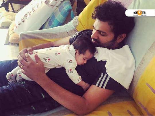Rohit Sharma posts picture with baby Samaira