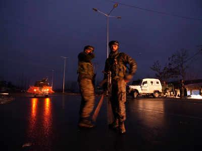 अवंतिपोरा हमले के बाद पुलवामा में मौजूद सुरक्षाबल