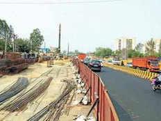 rajnagar extension flyover will start in a lane march