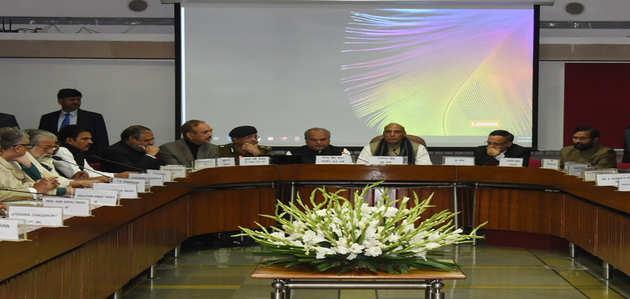 पुलवामा आतंकी हमला: राजनाथ सिंह की अध्यक्षता में हुई सर्वदलीय बैठक