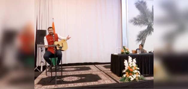 रबात: मोरक्कन सिंगर ने सुषमा स्वराज के सामने गाया 'वैष्णव जन तो तेने कहिए'