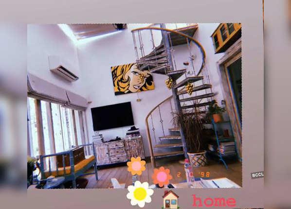 कटरीना कैफ का लिविंग रूम