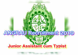 acharya ng ranga agricultural university released notification for junior assistant cum typist
