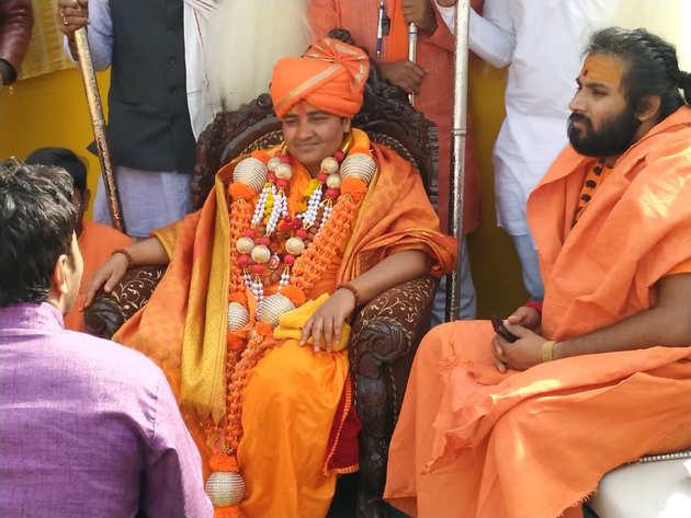 कुंभ मेले में पहुंचीं साध्वी प्रज्ञा ठाकुर