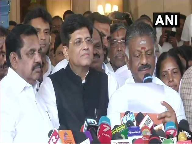 तमिलनाडु में साथ आई बीजेपी और एआईएडीएमके