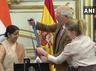 external affairs minister sushma swaraj accepts prestigious grand cross of order of civil merit conferred by spanish government