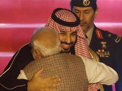 सऊदी प्रिंस से गले मिले PM नरेंद्र मोदी, कांग्रेस ने साधा निशाना