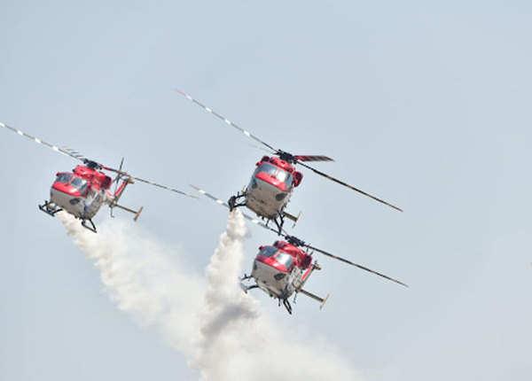 सारंग हेलिकॉप्टर के करतब