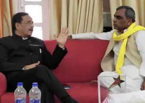 omprakash rajbhar calms down after meeting amit shah
