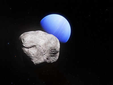 नेप्च्यून और उसका चांद हिप्पोकैंप
