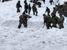 rescue operation for 5 army personnel trapped in snow avalanche continues on friday