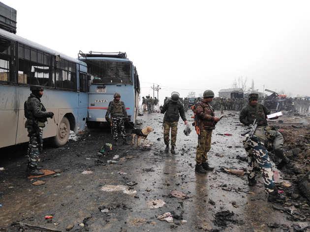 पुलवामा आतंकी हमला (फाइल फोटो)