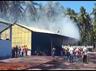major fire breaks out in pollachi coconut fiber factory