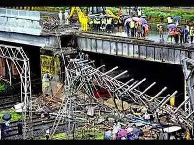 गोखले ब्रिज की घटना के बाद सभी आरओबी का निरीक्षण