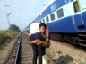 madhya pradesh police cop video of carrying a critically injured man on his shoulder and run down railway tracks