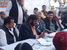 responsible officers not reaching in janpratinidhi aapke dwar chaupal in gomati nagar