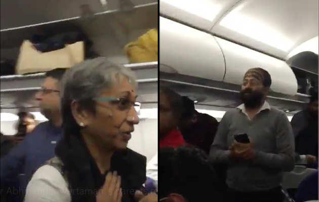 देखें, अभिनंदन वर्तमान के माता-पिता को देख तालियों से गूंजा विमान